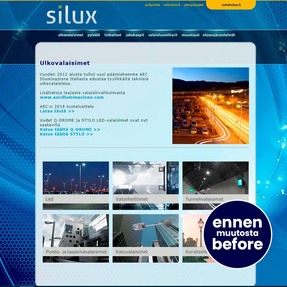 verkkosivut silux ennen